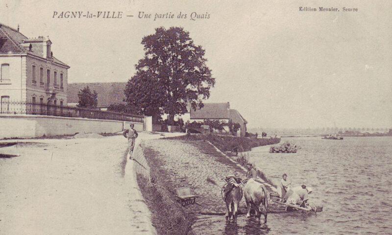 Les lavandières au bord de Saône
