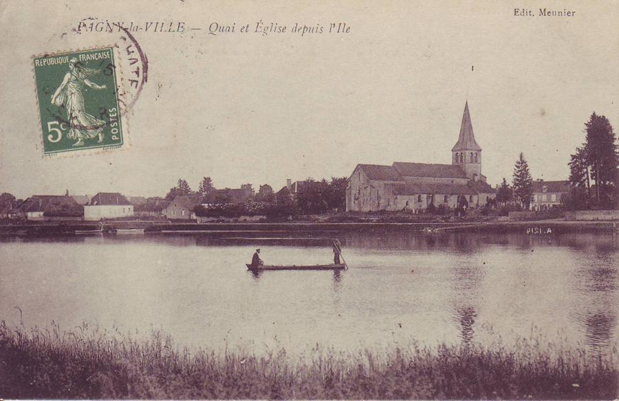 L'église vue de la Saône