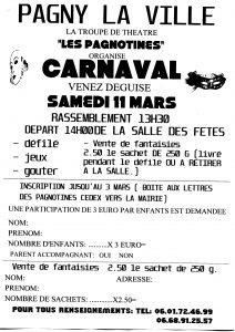 11 Mars 2017 – CARNAVAL avec «Les Pagnotines»