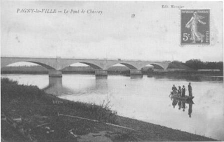 Le pont de Charrey et les pêcheurs