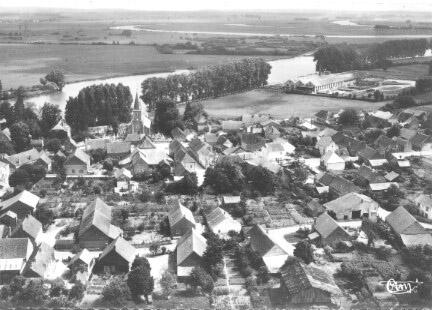 Une partie de Pagny la ville vue par avion