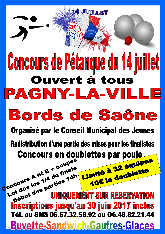 14 Juillet 2017- Concours de Pétanque dès 14h