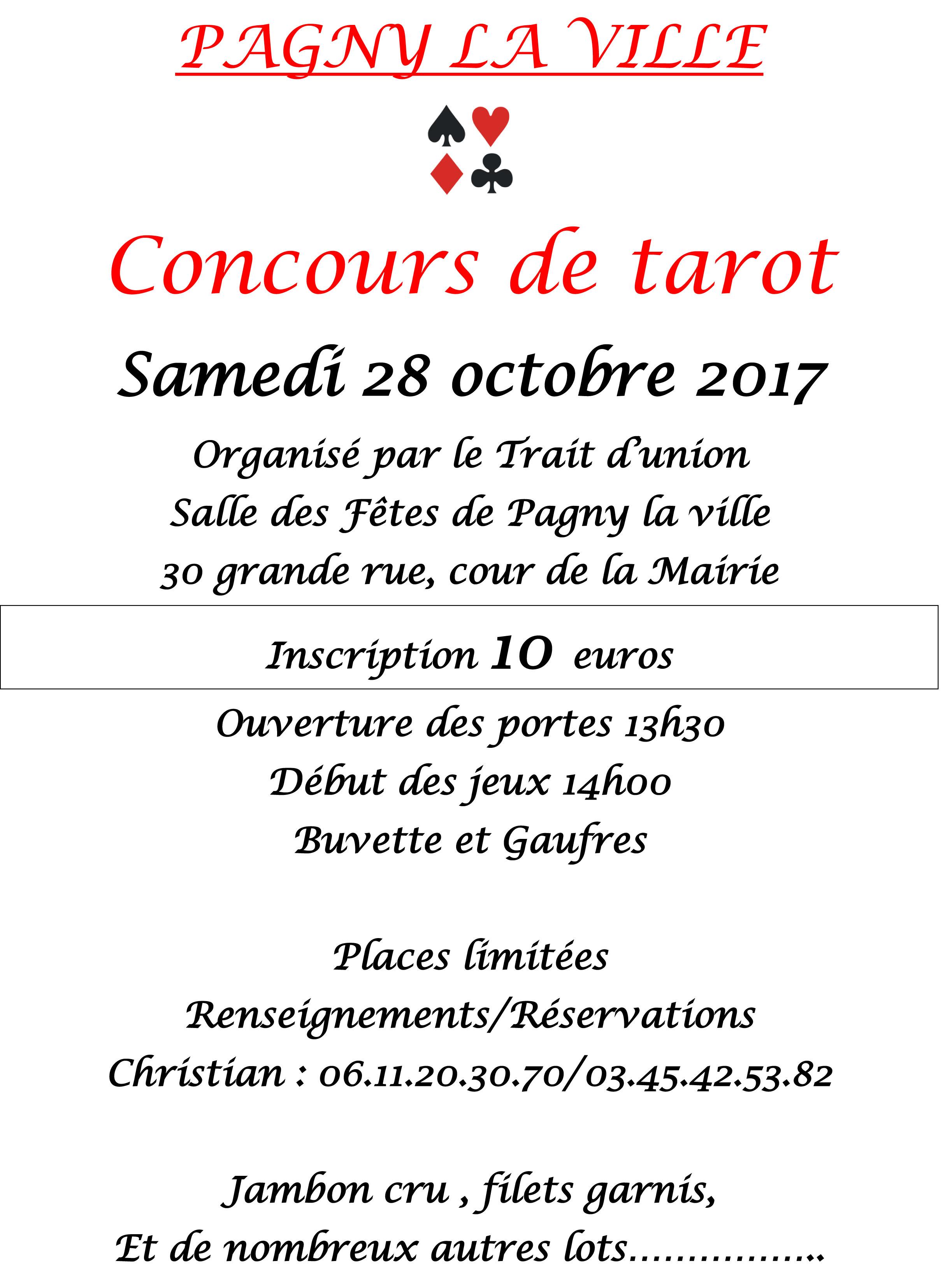 28 octobre 2017 – Concours de Tarot