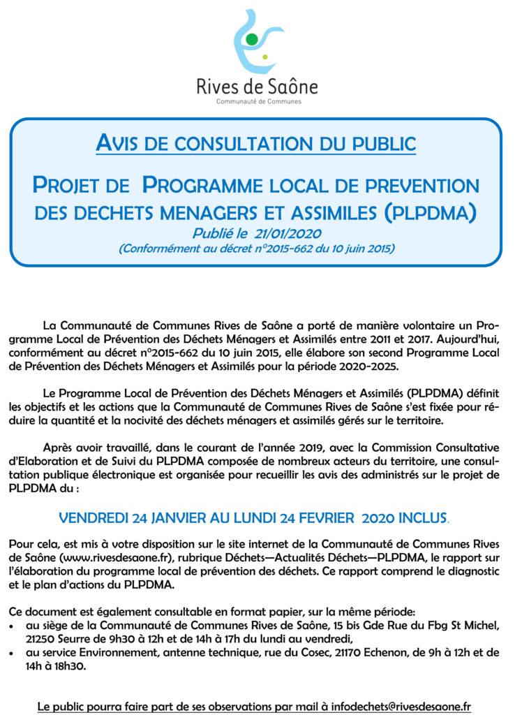 Enquête publique sur le Programme Local de Prévention des Déchets