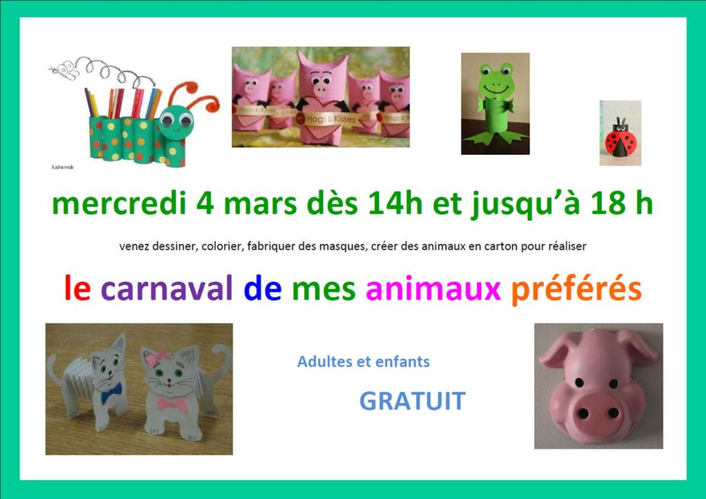 Atelier le 4 mars 2020 à la bibliothèque de Pagny la ville