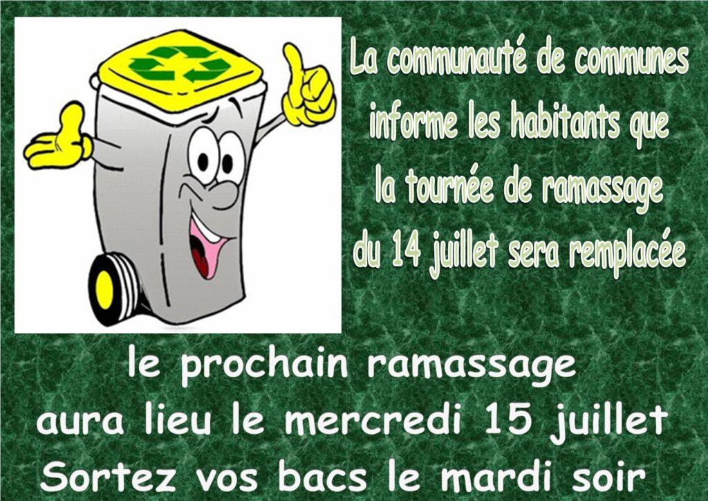 Ramassage BACS JAUNES