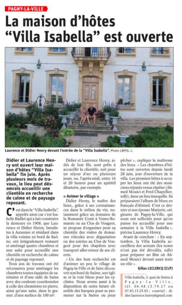 Maison d'hôtes nouvelle à Pagny la ville