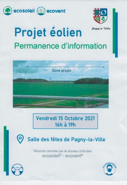 PROJET éolien sur le territoire de Pagny la ville